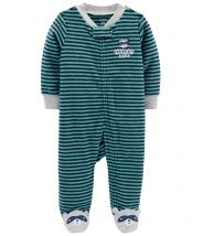 Raccoon Zip-Up Terry Sleep & Play