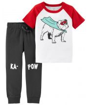 2-Piece Super Hero Tee & French Terry Jogger Set