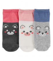 3-Pack Critter Ankle Socks