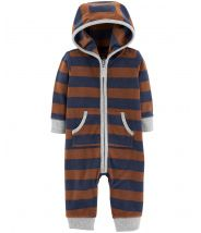 Bear Hooded Fleece Jumpsuit