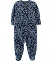 Cheetah Snap-Up Fleece Sleep & Play