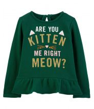 Are You Kitten Me Sequin Ruffle Top