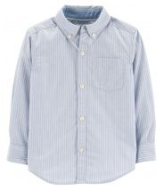 Striped Dobby Button-Front Shirt