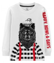 Holiday Wolf Jersey Tee