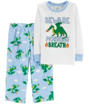 2-Piece Dragon Snug Fit Cotton & Fleece PJs