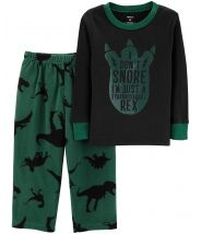 2-Piece Dinosaur Snug Fit Cotton & Fleece PJs
