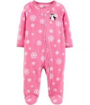 Penguin Zip-Up Fleece Sleep & Play