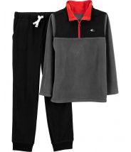2-Piece Half-Zip Fleece Pullover & Jogger Set