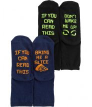 2-Pack Slogan Crew Socks