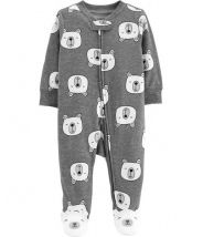 Polar Bear Zip-Up Cotton Sleep & Play
