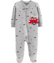 Firetruck Zip-Up Cotton Sleep & Play