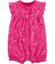 Heart Snap-Up Romper