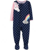 1-Piece Unicorn Footed Poly PJs