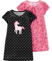 2-Pack Unicorn Sleep Gowns