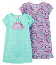 2-Pack Dinosaurs Sleep Gowns
