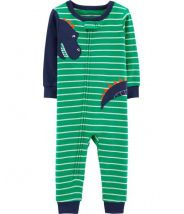 1-Piece Dinosaur Snug Fit Cotton Footless PJs
