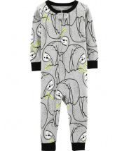 1-Piece Sloth Snug Fit Cotton Footless PJs