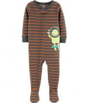 1-Piece Alien Footed Snug Fit Cotton PJs