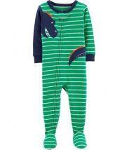 1-Piece Dinosaur Footed Snug Fit Cotton PJs