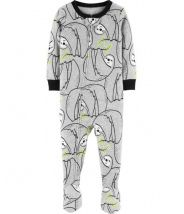 1-Piece Sloth Footed Snug Fit Cotton PJs