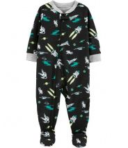 1-Piece Space Ship Footed Poly PJs