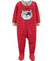 1-Piece Dog Footed Poly PJs