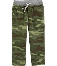 Camo Easy-Pull On Canvas Pants