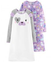 2-Pack Dog Sleep Gowns