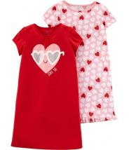 2-Pack Valentine's Day Sleep Gowns