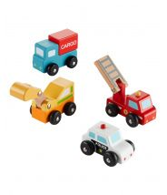 4-Pack Wooden Car Set