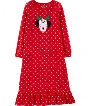 Christmas Dog Fleece Sleep Gown