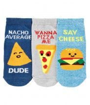 3-Pack Food Ankle Socks