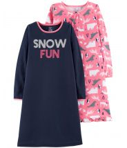 2-Pack Snow Fun Sleep Gowns