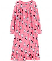 French Bulldog Fleece Sleep Gown