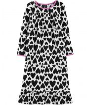 Heart Fleece Sleep Gown