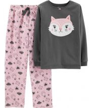 2-Piece Cat Fleece PJs