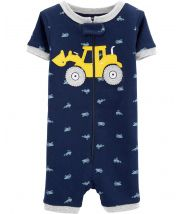 1-Piece Construction Snug Fit Cotton Sleep Romper