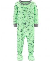 1-Piece Dinosaur Snug Fit Cotton Footie PJs