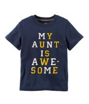 Aunt Is Awesome Jersey Tee