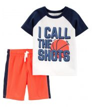 2-Piece Basketball Tee & Mesh Short Set