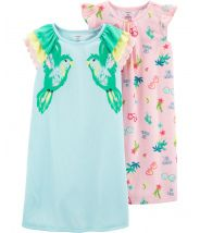 2-Pack Tropical Nightgowns