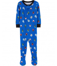 1-Piece Football Snug Fit Cotton PJs