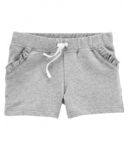 Ruffle Pull-On French Terry Shorts