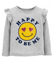 Happy To Be Me Flutter Tee