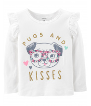 Pugs And Kisses Flutter Tee